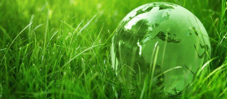 groene wereldbol